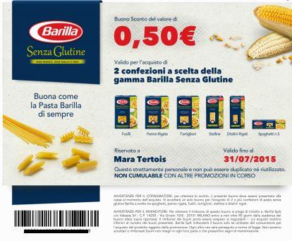 coupon sconto pasta barilla