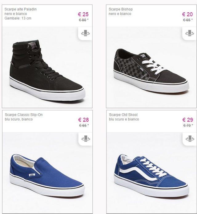 Calzature Vans in promozione: scarpe superscontate!